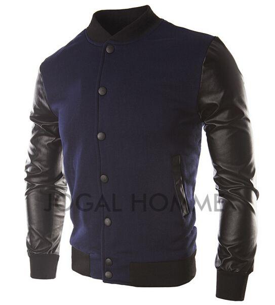 ¡Envío sin caídas! 2015 recién llegado de los hombres ocasionales hombres jakets patchwork tela de moda 55
