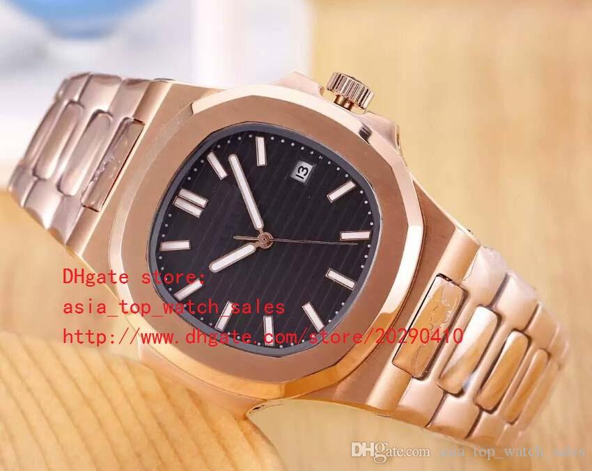 4 цвета лучшая версия розовое золото роскошные часы 40,5 мм Nautilus 5711/1A-001 дата Азия механические прозрачные механические автоматические мужские часы