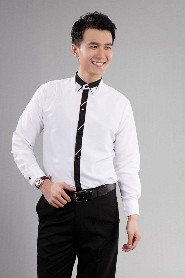 2015 White Mens Wedding Shirts Normal Tuxedos Business Men Suits Groomsmen Beads Polo Collar