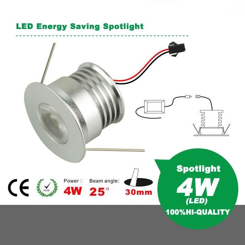 Dimmable LED Energy Saving Mini Spotlight Ceiling Light 4W AC85-265V LED Downlight Energy Saving Light High Color Rendering Index