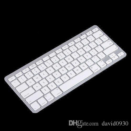 2015 بيضاء ضئيلة لوحة المفاتيح اللاسلكية بلوتوث لباد فون بود تاتش PS3 لوحة المفاتيح لالروبوت / الهاتف / الكمبيوتر / الكمبيوتر اللوحي شحن مجاني