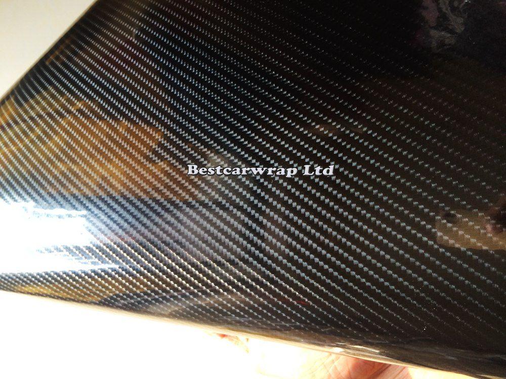 6D لمعان ألياف الكربون الفينيل التفاف عالية لامعة مثل الكربون الحقيقي مع فقاعة الهواء مجانا ل السيارات التفاف محركات الكمبيوتر المحمول الحجم: 1.52 * 20 متر / لفة