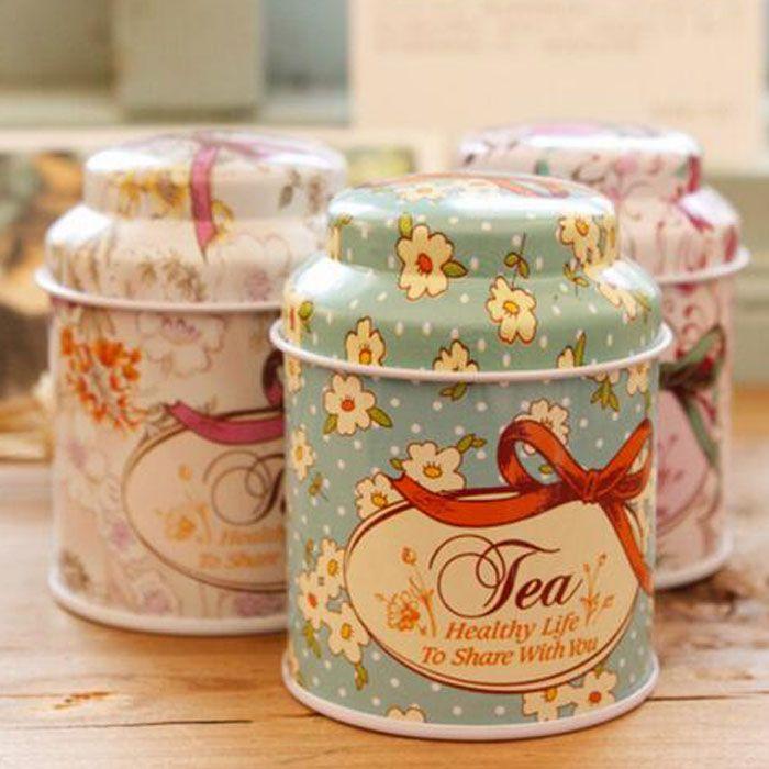 2016 nueva caja del té de la serie de la flor del estilo del vintage, caja de la lata del corte, caja de almacenamiento, organizador, caja del hierro, envase de almacenamiento