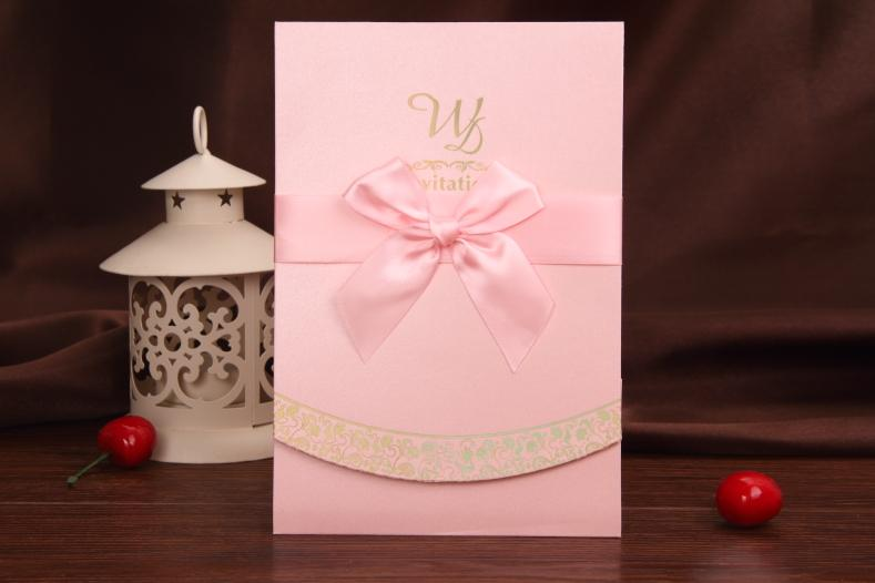 Cheap Pink Wedding Invitation In Stock Wedding Cards With Envelope