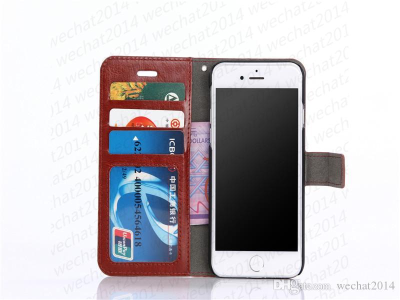 Raccoglitore di cuoio dell'unità della copertura della cassa con la copertura di slot per schede Photo Frame per iPhone Pro 11 Max Xs Max 5 5s 6 7 8 più
