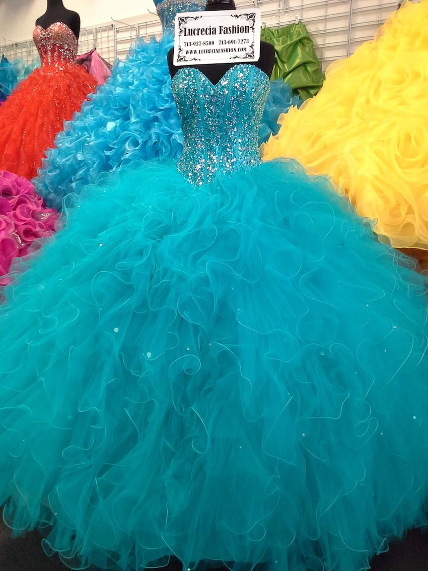 Blue Dress Ball Gown Ragazza Quinceanera Dresses 2015 Crystal Beaded Tulle Vestidos 15 Years Sixteen Girls Masquerade Ball Dresses