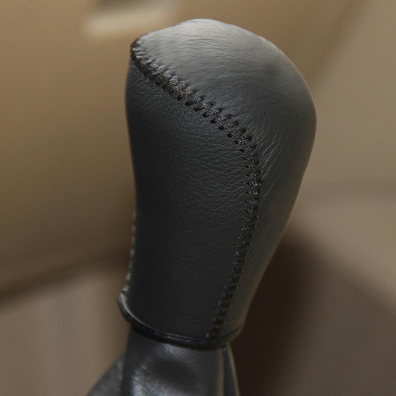 TOYOTA COROLLA 2013 için manuel vites kapağı araba styling Oto iç dekorasyon hakiki deri vites kapağı DIY