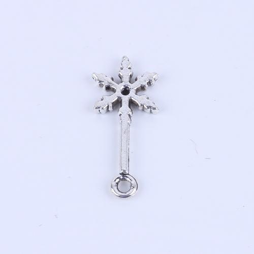 Nuova moda argento / bronzo retrò pendente fiocco di neve fabbricazione collana pendente gioielli fai da te fascino o bracciali fascino 400pcs / lot 4874