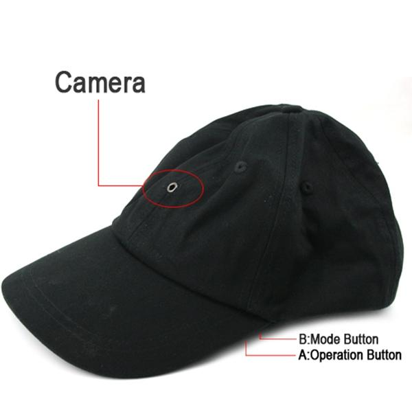 Cap Camera with MP3 player & Bluetooth & Romote Control HD Hat mini DVR pinhole camera video recorder black in retail package