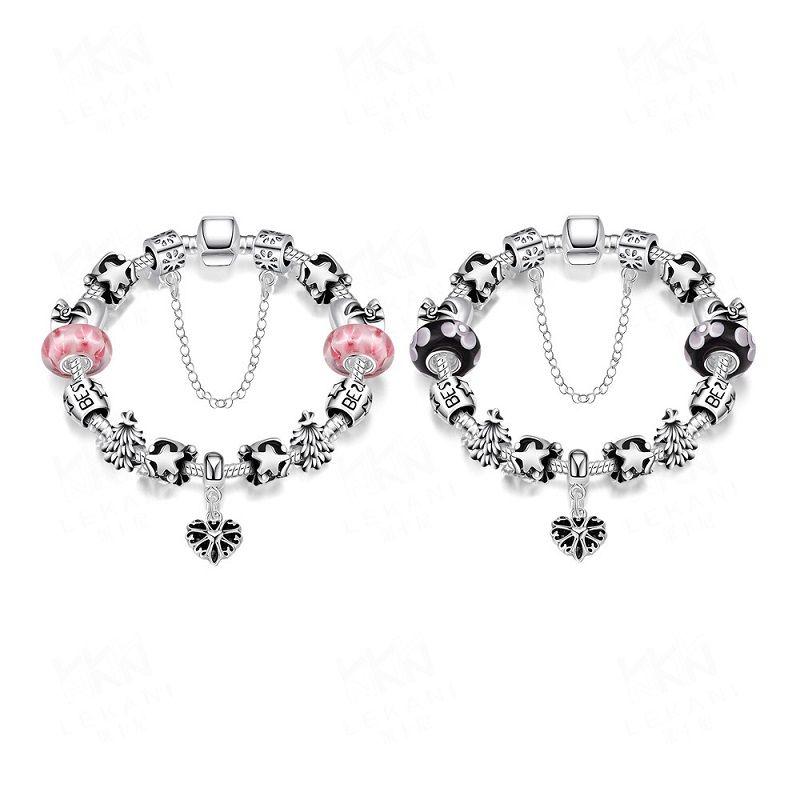 Мода стерлингового серебра 925 браслеты ромашки муранского стекла Кристалл европейский шарм бусины подходит браслеты для pandora браслеты Box кнопка