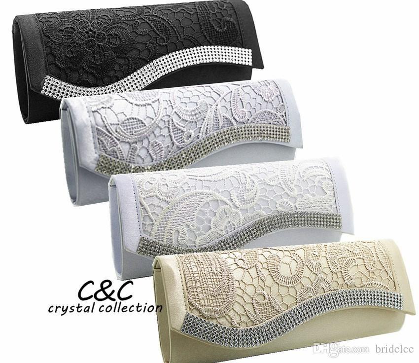 2020 NOUVEAU Mode Cristal Diamonds Dentelle Sacs Soirée Sacs De Mariage Sacs Femme Sacs Base De Mariage Base