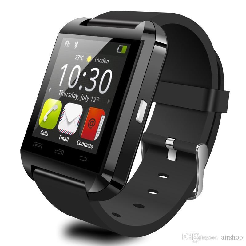 MOQ20 pcs 블루투스 스마트 시계 U8 Wristwatch 디지털 스포츠 시계 IOS 안 드 로이드 삼성 전화 웨어러블 전자 장치 U 8