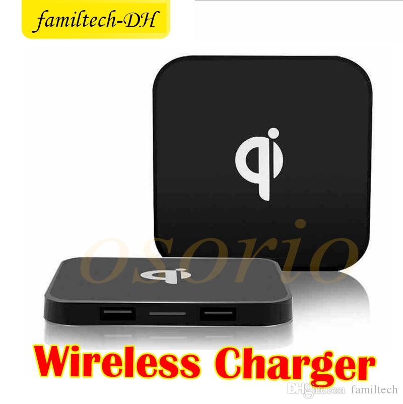 2018 Hot best Dual USB Qi Charger Q8 Wireless Charger charging Mat USB for iPhone 8 X Samsung Galaxy S8 S7 S6 edge Note5 Note8
