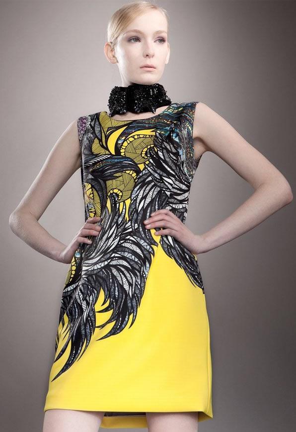 Nowość Drukuj Kobiety Slim Sukienka Bez Rękawów Sexy Mini Dresses 01982