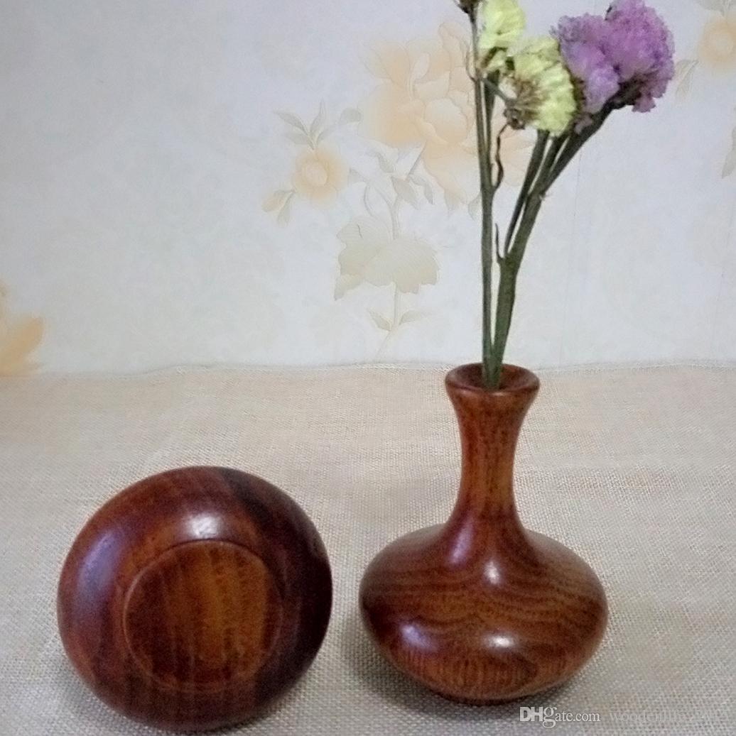 2pcsset small wooden flower vase retro home decoration table small wooden flower vase retro home decoration table decoration accessories handmade craft floridaeventfo Images