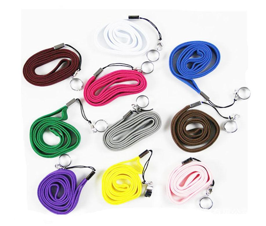 Electronic Cigarette EGO Ring Colorful Ego Necklace Lanyard Rope String Neck Chain Sling W Clip Ring For Evod EGO Ecig Ego CE4 CE5