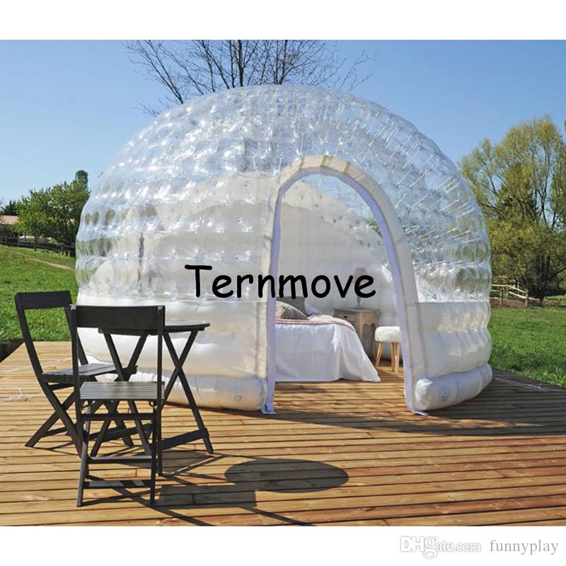 ... inflatable bubble tent with free CE/UL blower inflatable half clear double layer c&ing star & inflatable bubble tent with free CE/UL blower inflatable half ...