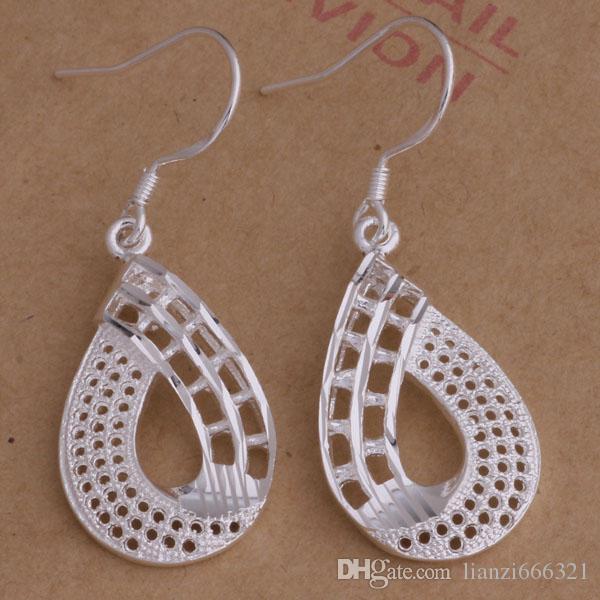 Mode (fabricant de bijoux) 40 pcs beaucoup cinq feuilles boucles d'oreilles 925 bijoux en argent sterling prix usine Mode Shine boucles d'oreilles AE001