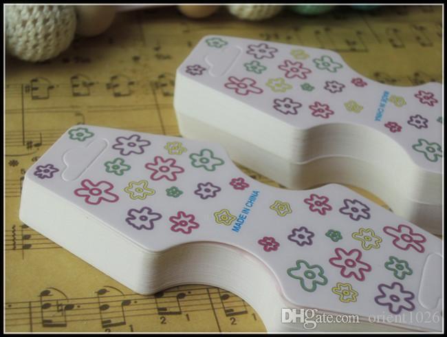 Halsband papperskort Helt nytt Rosa Smycken Förpackning Trendigt Halsband Stativ Hang Tag Bracelet Label Display Kort Hängande Tag A1-009 400pcs