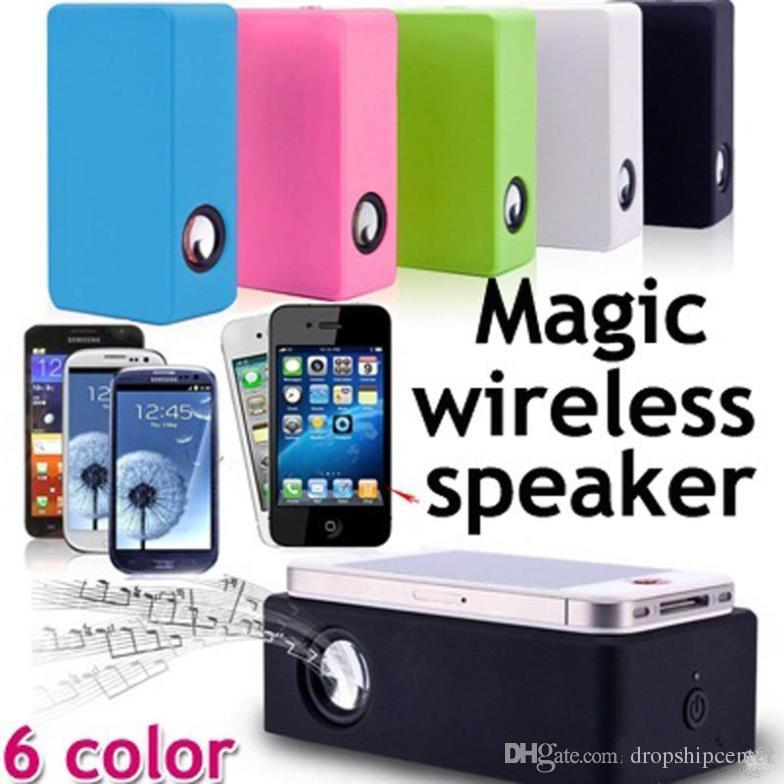 Magic Boose Wireless Induction Audio Speaker Interaction Amplifying Speakers Near Field Subwoofers For Smartphone iPhone 6 Note 4 S5 Etc