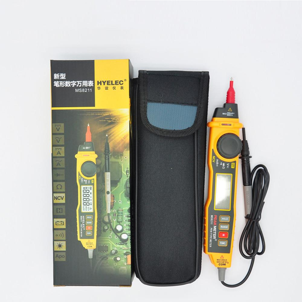 MS8211 NCV AC DC Current Voltage Resistance Diode Connectivity Multitester Pen Type Digital Multimeter-2