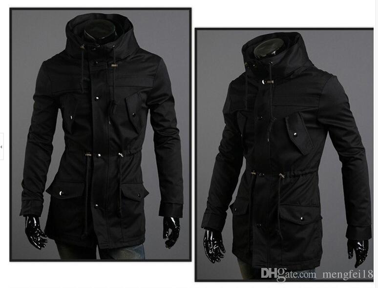 le dernier 65ecd a420f Acheter Nouveau Style Assassin's Creed Slim Long Manteau De Cachemire  Manteau D'hiver Chaud Noir M XXL Livraison Gratuite De $52.8 Du Mengfei18 |  ...