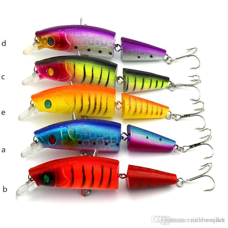A + + Mutil 관절 스플릿 테일 바닷물 낚시 미끼 14cm 20.22g 2segments wobbler crankbait fishing bait