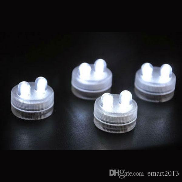 Waterdichte Dompelbare LED-Floralalyte LED-thee Kaars Licht Batterij Operated LED-vaaslampen voor bruiloftsfeestversiering