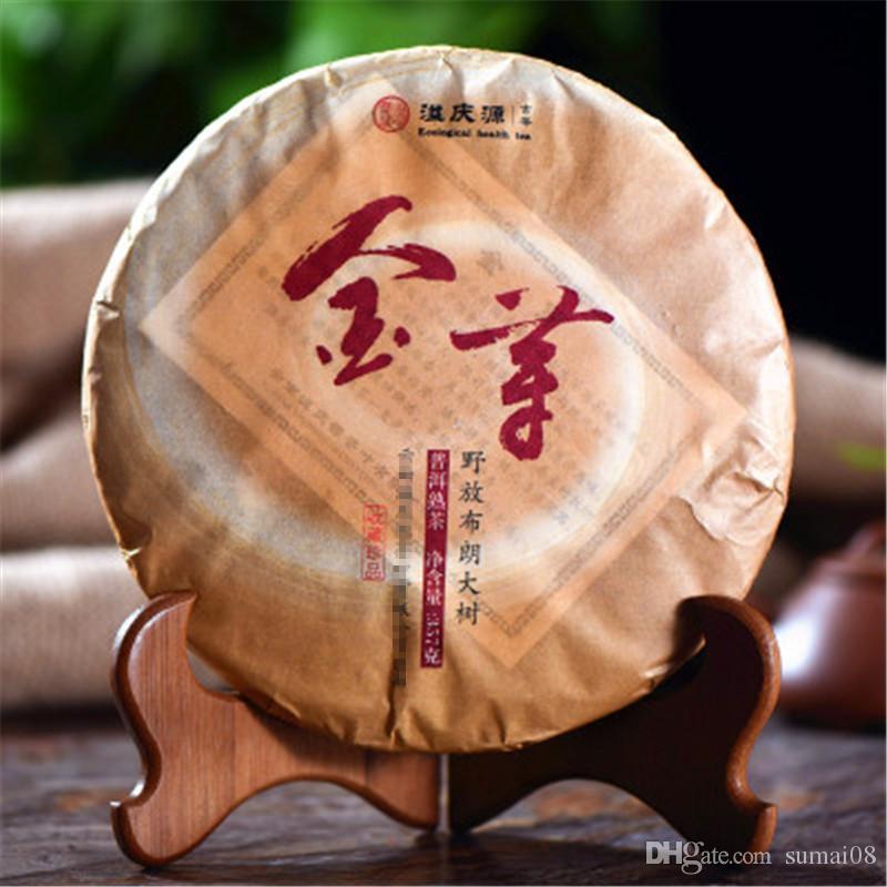 Yunnan préférence or Bud 357 g sauvage Ripe Puer thé Gâteau naturel bio Noir Pu'er thé Old Tree cuit Puer thé