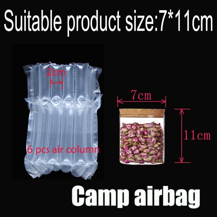 Надувная подушка безопасности (Dia.7 * H11cm) на воздушной подушке Колонка (3 см) Buffer мешок защиты продукта хрупкими товары