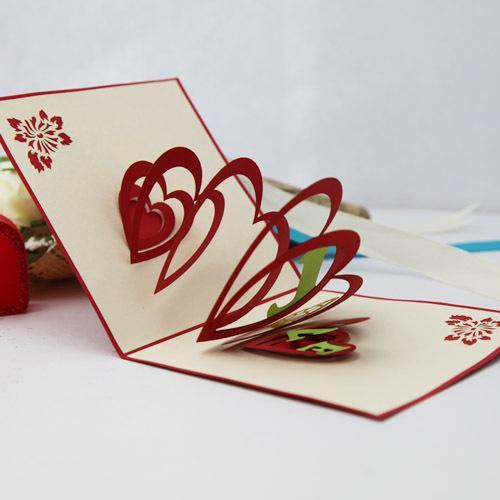 Postcard 3D Card Diy Creative Paper-cut Cards Greeting Card Three-dimensional