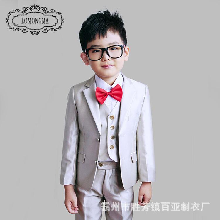 5pcs boys suits for weddings formal turndown collar boy blazer suit boys single breasted