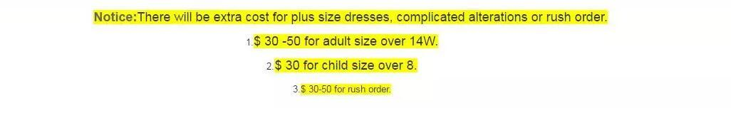 2018 Free Shipping Best Selling Plus Size Fee Extra Fee Link for Special customer for Evening Prom Dresses