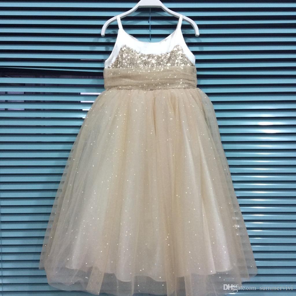 2018 Christmas Party Dress Girls Princess Dress Chlidren Sequins ...