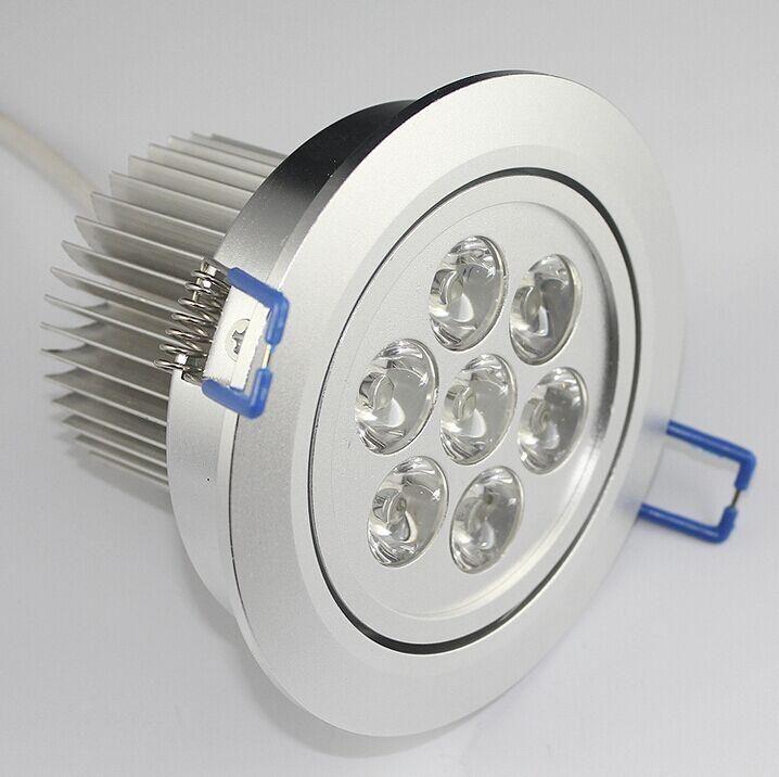 調光対応LEDの天井のライト7W 700LM LEDの陥凹シーリングダウンライト85-265V LEDの電球ランプダウンライト照明スポットライト