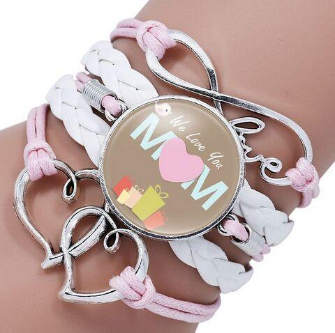 Fashion Jewelry Mom Love Bird Leather Infinity Charm Bracelet Vintage  Accessories Mother'S Day Gifts Charm Bracelet Chain Charm Bracelet Gold  From