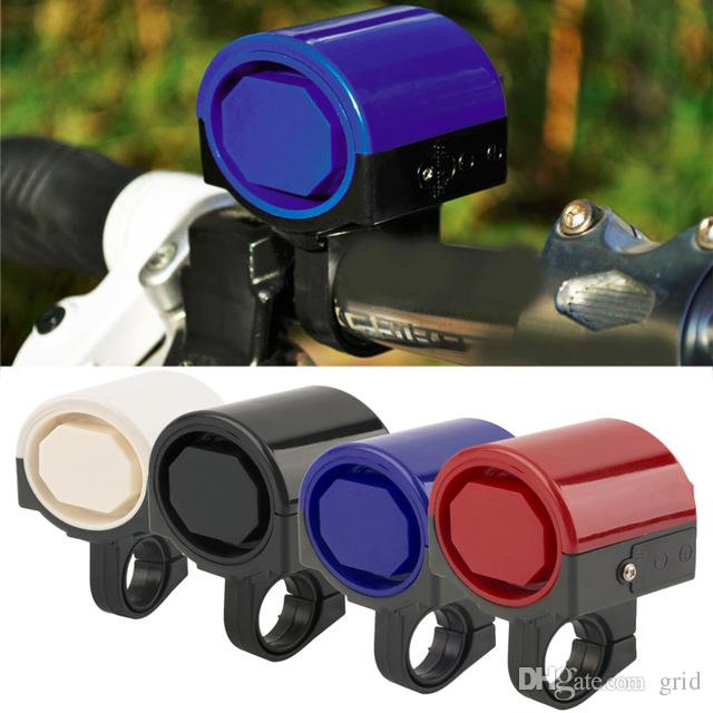 Wholesale MTB Road Bicycle Bike Electronic Bell Horn Cycling Hooter Siren Accessory Blue/Yellow/Black/Red/White Free shipping
