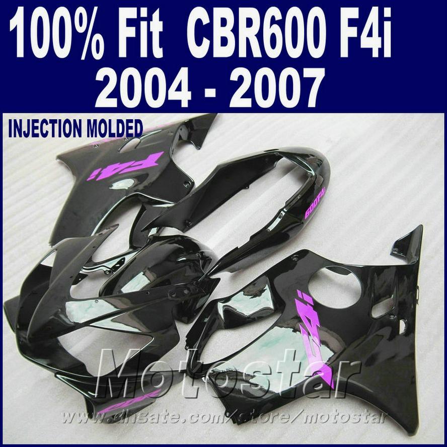 HONDA CBR 600 F4i kaplamalar için enjeksiyon kalıplama özel kaplama 2004 2005 2006 2007 bodykit siyah 04 05 06 07 cbr600 f4i IZDS