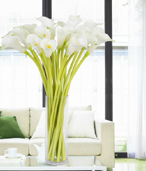 artificial christmas flower PU Calla Lily Real Touch Flower Artificial Flowers for Wedding Decoration Party Flower for Gift/Home Decor 2015