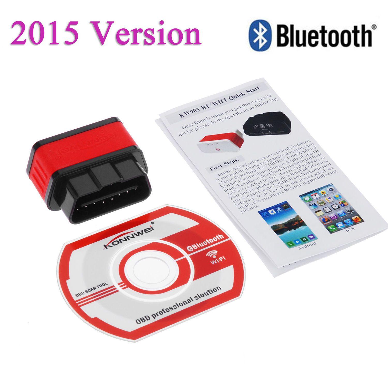 Großhandel KW903 ELM327 Bluetooth OBD2 OBD II Auto Auto Fehler ...