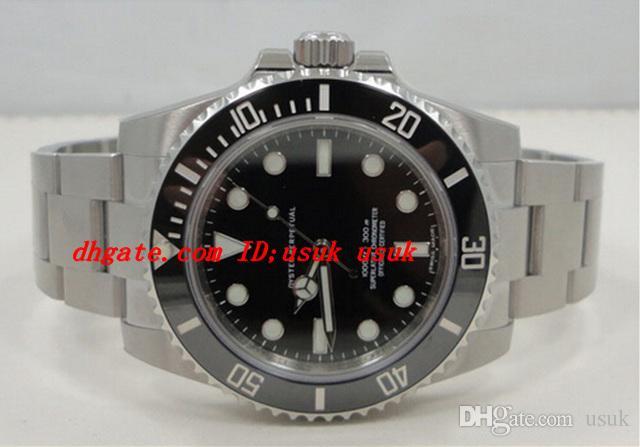 Montre-bracelet de luxe nouvelle en acier inoxydable 114060 lunette saphir noir bracelet en acier inoxydable sport automatique montres hommes montres