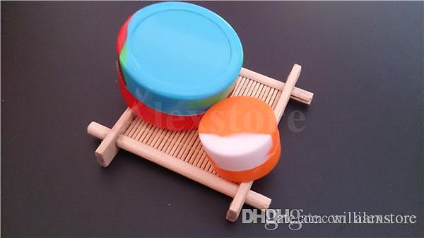 Yapışmaz Büyük Balmumu Konteynerler silikon kutu Silikon konteyner dabber 55 * 28mm 22 ml gıda sınıfı balmumu kavanozlar dab bho yağ depolama kauçuk özel DHL