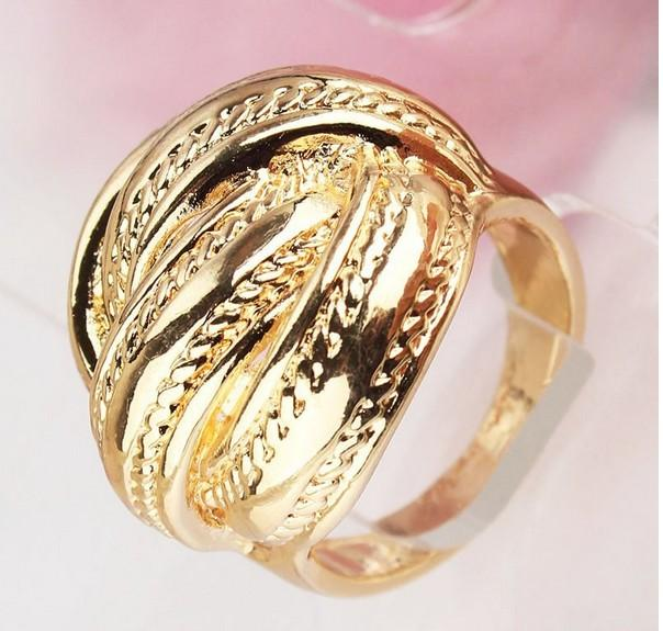 Free Shipping Fashion Women/Men 18k Gold Plated High Quality Chic The Ring Jewelry Wedding Rings Hot Sale