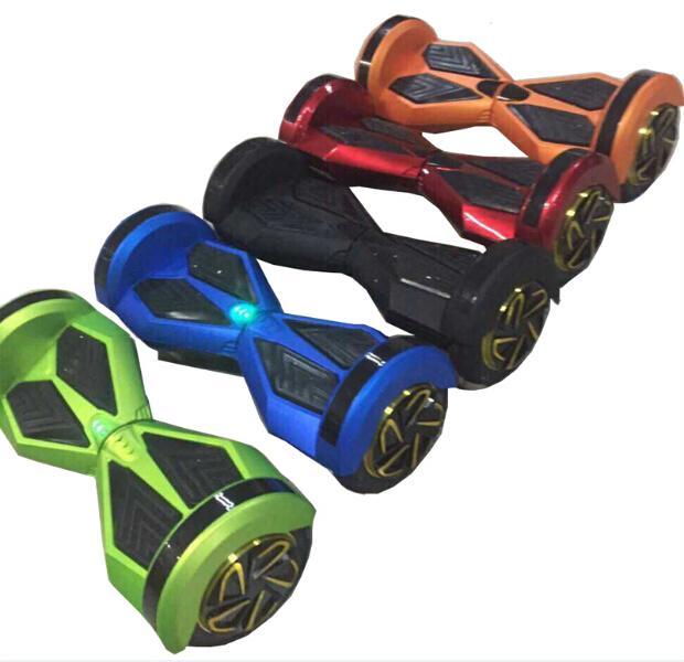 "8"" 2 wheels smart balance scooter self balancing electric unicycle smart balance board LED Light Bluetooth Remote Key 700W"