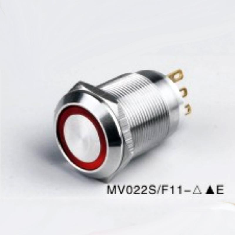 Redesign high quality 22mm metal automotive illuminated 6v,12v,24v,110v,220v AC/DC lighted on off push Button waterproof momentary switch