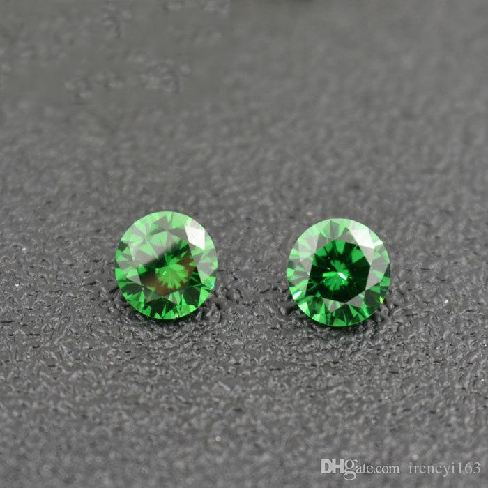 High Qulaity 3A Lab Created Emerald Cubic Zirconia Birthstones Round 3mm Jaunary To December 12 Colors Loose Diamond For Jewelry Making