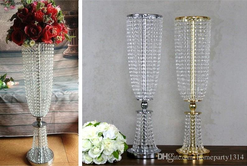 wedding flower vase metal stand party stage decoration crystal wedding road lead props / wedding table centerpieces event party decoration
