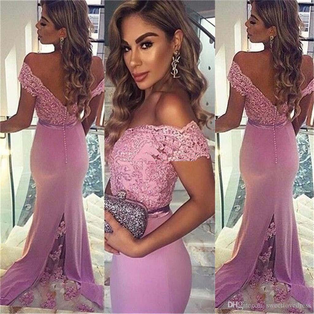 2017 meerjungfrau off-schulter arabische spitze prom kleider backless party kleider abendgarderobe perlen sweep zug benutzerdefinierte vestidos de fiesta