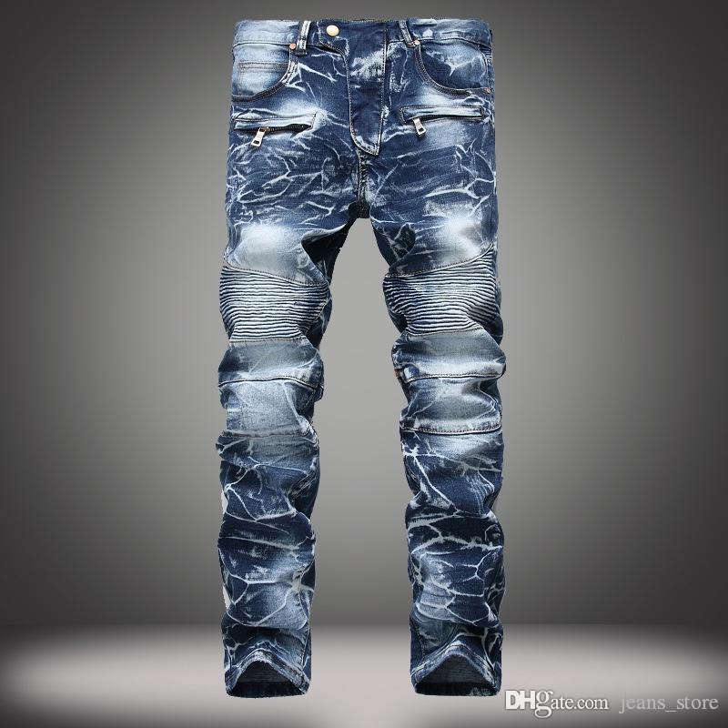 Compre Disenador De Moda Para Hombre Robin Rock Revival Biker Jeans Estilo De Calle Jeans Para Ninos Pantalones De Mezclilla Pantalones De Disenador Para Hombre Pantalones Tamano 30 42 Nuevo 041 A