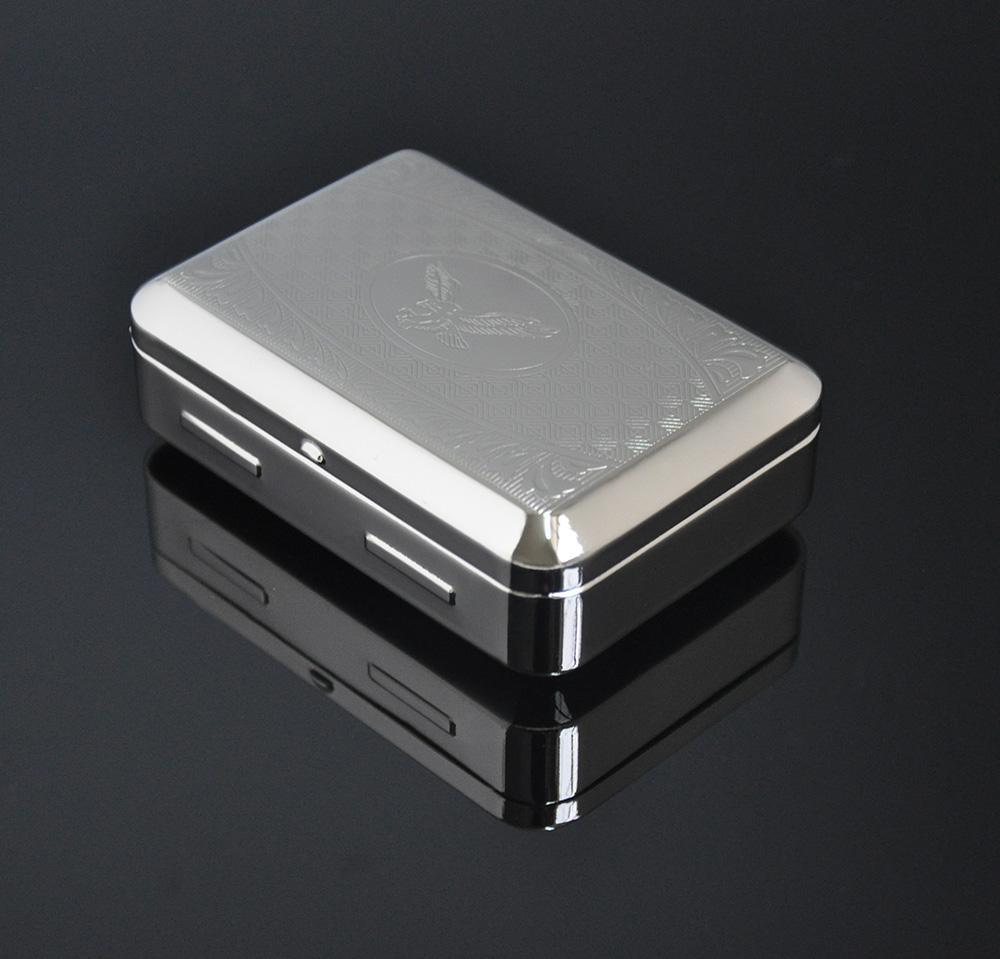 Box-012 실버 금속 휴대용 리필 할 수 담배 담배 케이스 상자, 롤링 머신 종이 허브 그라인더 Shisha 물 담뱃대 봉 공급 업체